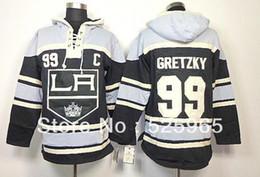 2013 Cheap High quality ice hockey Jerseys Los Angeles Kings LA 99 Gretzky  black Hoodie custom Jersey 811c78136
