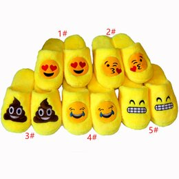 7b6aee73739 5 style Indoor Warm Emoji Slippers Cute House Slippers Smiley Emoticon Big  kids Women Mens Fuzzy Funny Slippers for adults