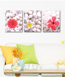 $enCountryForm.capitalKeyWord Canada - unframed Free shipping 3 Pieces Home decoration art picture Canvas Prints White stone Chrysanthemum tree Abstract cartoon flower