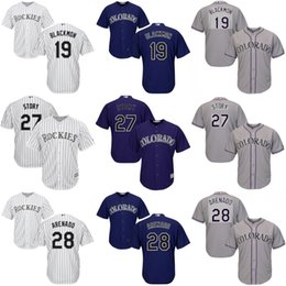 70ffa9f6882 Youth 19 Charlie Blackmon 27 Trevor Story 28 Nolan Arenado Colorado Rockies  kids Men ...
