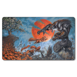 Volviendose Grande Baratos-Envío gratis Custom Playmat Game of Thrones Watchers en Wolf Playmat GOT Big Mouse Pad con Playmat Bag 35x60 cm