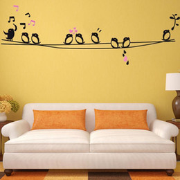New Birds And Branches Art Wall Sticker Decal Music Note Bedroom Decor DIY  Paper