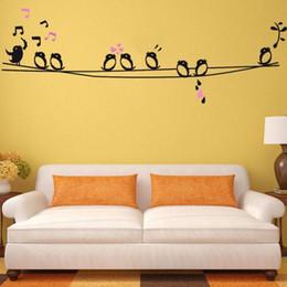 Discount Diy D Bird Wall Art  Diy D Bird Wall Art On Sale - Yellow bird wall decals