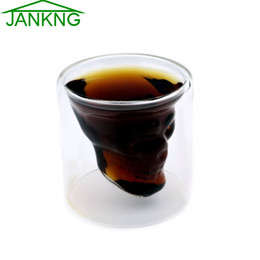 $enCountryForm.capitalKeyWord Canada - JANKNG 1Pcs 75mL Crystal Skull Double Wall Glass Head Shot Glass Cup For Whiskey Wine Vodka Home Drinking Ware Man Gift Cup