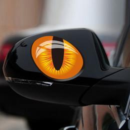 $enCountryForm.capitalKeyWord Canada - Wholesale 12*10cm 1Pair Cute Simulation Cat Eyes Car Stickers 3D Vinyl Decals on Cars Head Engine Cover Rearview Mirror Windows Decoration