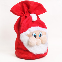 $enCountryForm.capitalKeyWord UK - Christmas Large gift bags props ornaments Santa Claus Drawstring Bags Santa snowman candy Gifts bag decorations candy gift Sack Bags