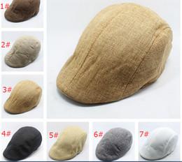Sombrero de la boina en pico de verano de la venta caliente Sombrero del  vendedor de periódicos Sombreros Gorras de golf de conducción Cabbie Beret  Gatsby ... ef89172657c