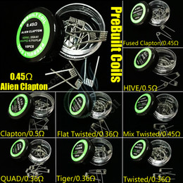 Quad wire coil online shopping - Pre Built Coils Types Heating Resistance wrap wires Alien Fused Clapton Flat Mix Twisted Hive Quad Tiger mods Vapor RDA premade coil head