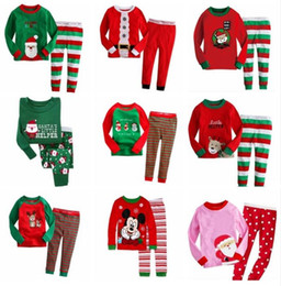 Baby Girl Santa Claus Outfit Canada - Baby Girl Boy Christmas Santa Claus Deer Nightwear Pyjamas Set Sleepwear Outfits Children Autumn Winter Xmas Clothes