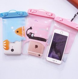 $enCountryForm.capitalKeyWord Australia - Waterproof Cell Phone Bag Cover for Galaxy S3 IPhone 5C 7 Iphone6 Plus 5 Cartoon Neck Pouch Water Proof Bags Protector Case Universal China
