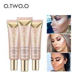 Face Glow Cream Australia - O.TWO.O Makeup Contour Highlighters Fine Cosmetics Waterproof White Shimmer Glow Brighten Face Liquid Highlighter Women Gift