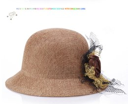 Linen Beach Hat Canada - NEW Women Summer Beach Elegant Lady Sun Protection Bowknot Bonnet Linen Bucket Hat Cap
