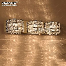 Bathroom Wall Sconces With Outlet discount chrome crystal wall sconce | 2017 chrome crystal wall