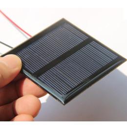 $enCountryForm.capitalKeyWord Canada - Wholesale Mini 0.6W 5.5V Solar Cell Polycrystalline Solar Panel DIY Solar Charger+15CM Cable 65*65*3MM Education kits 50pcs lot FreeShipping