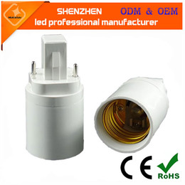 cfl bulb adapters Canada - PBT G23 to E27 socket adapter CFL g23 to e27 light bulb converter