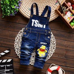 Salopette En Velours Côtelé Pas Cher-Vente en gros-Hot Pants Baby Boy ensemble Jumpsuit Toddler Vêtements Bodysuit filles Corduroy coton épais Automne Manteaux Cartoon animaux