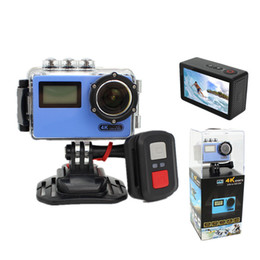 "China New design 4K ntk96660 Action Camera imx078 2.45"" inch HD LCD 170 degrees double dual screen Waterproof wifi action Sport Camera Cam suppliers"