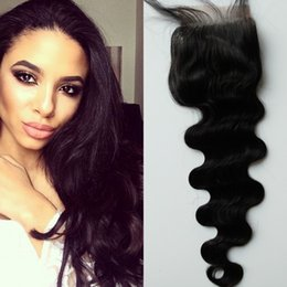 $enCountryForm.capitalKeyWord NZ - 4x4 Lace Closure With Baby Hair Malaysian Virgin Human Hair Body Wave Free Part Middle Part Three Part Closure 8-22inch G-EASY