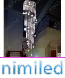 $enCountryForm.capitalKeyWord Canada - nimi1007 Duplex Rotation LED Crystal Chandelier Penthouse Staircase Lamp Lights Long Pendant Lighting Hanging Line Villa Hotel Lobby Hall