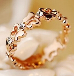 beautiful rings new style 2019 - Butterfly Rhinestones Ring For Women Wholesale New Fashion Girl Cute Gift Korean Style Beautiful High Quality cheap beau