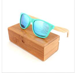 e5023f3d3 Cheap Polarized Mirrored Sunglasses Canada - Multi sunglasses women brand  designer Plastic Bamboo Leg Sunglasses Polarized