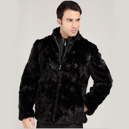 $enCountryForm.capitalKeyWord NZ - 2016 new men's faux mink fur coat cultivate one's morality zip jackets Winter Fashion Mens Eco-friendly Faux Fur Coat Jackets