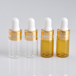 online shopping Mini ML Small Clear Amber Glass Dropper Bottle cc Mini Glass Vial With Pipette Dropper High Quality Glass Bottle