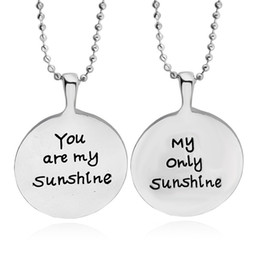 "$enCountryForm.capitalKeyWord Canada - Fashion Silver ""You are my Sunshine my only Sunshine""necklace Lover Pendant Wholesale price women's jewelry"