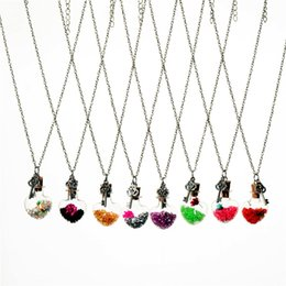 Flower Gift For Love Australia - Crystal Flower Key Heart Pendant Wish Bottle Current Bottle Drift Bottle Necklaces Necklace for women jewelry Christmas gift 161543