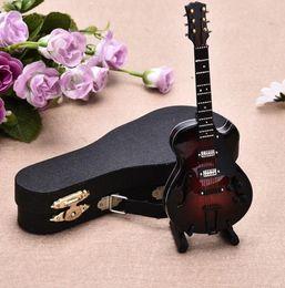 High-end Mini Instrumento Exquisito Guitarra Sousaphone Decoración de Escritorio Top Grade Gift Mini Instrumento Musical Modelos de Caja Delicada en venta