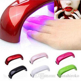 Chinese  Rainbow Nail Art Lamp 8 colors9W LED Light Bridge Shaped Curing Mini Nail Dryer Nail Art Lamp Care Machine for UV Gel USB Cable manufacturers