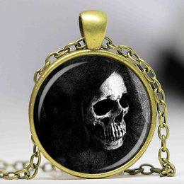 $enCountryForm.capitalKeyWord Canada - Glass Dome Fashion fashion jewelry skull santa muerte pendant necklace occult magic human bones scary horror death in capture gift