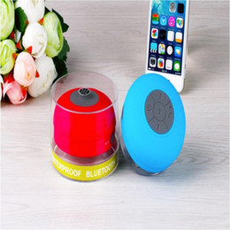 shower iphone speaker Australia - Mini Portable Subwoofer Shower Waterproof Wireless Bluetooth Speaker Car Handsfree Receive Call Music Suction Mic For iPhone Samsung 5 lot