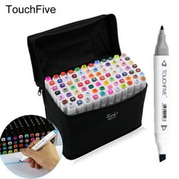 CopiC markers sets online shopping - 168 Color Paint Marker Five Generations Alcohol Permanent Marker Two Headed of Mark Marker Pen Permanent Copic Sketch Painting art pens
