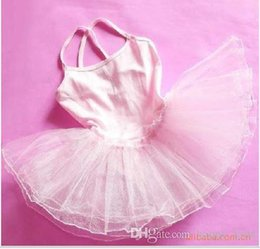 Robes De Ballet De Danse Enfantine Pas Cher-Filles Robes Tutu Toddler Girls Vêtements Ballet Leotard Robe Tutu petites filles Camisole Ballet Danse Dress attched Tutu Dress Dancewear
