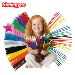 $enCountryForm.capitalKeyWord Canada - Simingyou 2016 100pcs Montessori Materials Chenille Children Educational Toy Crafts For Kids Colorful Pipe Cleaner Toys Craft