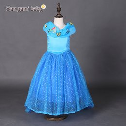 Butterfly costume child online shopping - Baby Girl Cinderella butterfly Dresses Children Girls Party Cosplay Costume Kids Halloween Xmas Dresses Clothes blue