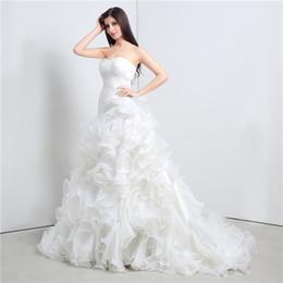 2016 white mermaid wedding dresses sweetheart cascading ruffles cheap vestido de novia under 100 court train bridal gowns dress in stock plus size wedding
