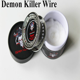 Demon Killer Wire Coil Alien Clapton Hive Tiger Flat Mix Twisted 15 Feet Roll with Organic Cotton DIY RDA RTA Coils DHL FREE