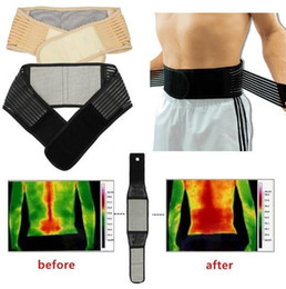 Health Beauty Adjustable Self-heating Lower Pain Relief Magnetic Therapy Back Waist Support Lumbar Brace Belt Double Pull Strap on Sale