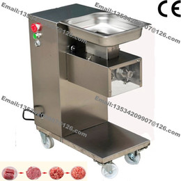 Meat processing Machines online shopping - 500KG H Stainless Steel mm mm Customized Blade v v Electric Commercial Fresh Meat Slicer Cutter Processing Machine
