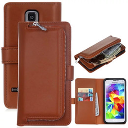 Iphone Removable Case NZ - 3 in 1 Zipper Removable Leather Pocket Wallet Magnet Card Case Luxury Cover Magnetic Case with Flip Card Holder Cover for iPhone Samsung