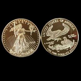 5 adet / grup, Sigara manyetik Amerikan Kartal Tanrı'ya Güven Özgürlük 2016 gerçek altın kaplama Liberty hatıra sikke, ücretsiz kargo indirimde