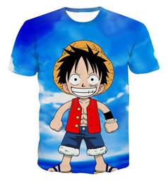 Boys T Shirts 3d Animal Print Canada - New Arrive Classic Anime One Piece 3d Printed T Shirts Fashion Cute Luffy T-Shirt Men Boy Harajuku Novelty Cartoon Tee Tops