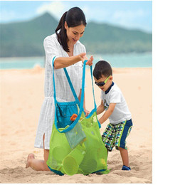 $enCountryForm.capitalKeyWord Canada - New Arrive Applied Enduring Children sand away beach mesh bag Children Beach Toys Clothes Towel Bag baby toy collection nappy