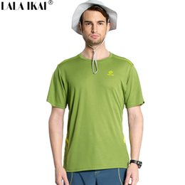 Quick Dry Sports T Canada - Wholesale-Men Quick Dry T-Shirt Outdoor Sports Hiking T-Shirt Men Breathable Fast Drying T-Shirt Brand Summer Fishing T-Shirt HMD0231-5