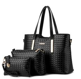 China 3pcs set composite bag Women Lash Package PU Leather Bags Crocodile Pattern Handbag Shoulder Crossbody Bag Clutch Bag Free Shipping suppliers