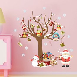 $enCountryForm.capitalKeyWord Canada - Christmas kids room decoration wall sticker home decor child gifts stickers Shop Window Snowman Christmas Tree Wall Sticker