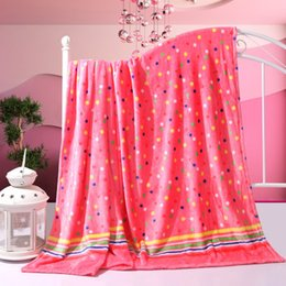 Portable Beds Adults Canada - Hot sale 4 sizes Coral Fleece blanket on the bed home adult Beautiful color blanket warm winter sofa travel blanket portable