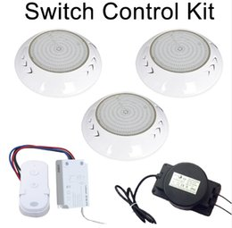 rf controller wifi Canada - 12V IP68 RGB LED Swimming Pool Lights Underwater Lamp WIFI 18W 24W 35W 42W DMX512   2.4G RF Switch Remote Controller + Power Adapter CE ROSH